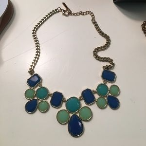 Blue & Green statement necklace