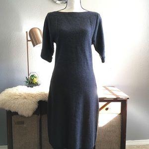 Calvin Klein gray sweater dress wool career office