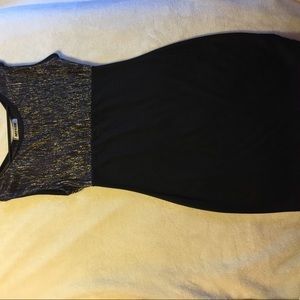 sequence top black mini dress