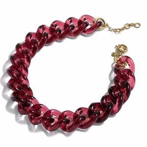 JCrew Lucite Link Rose Gold Necklace Choker