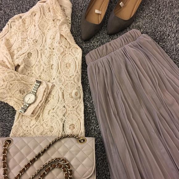dcf3df49c8 Rue21 Skirts | Gray Tea Length Tulle Skirt Nwt | Poshmark
