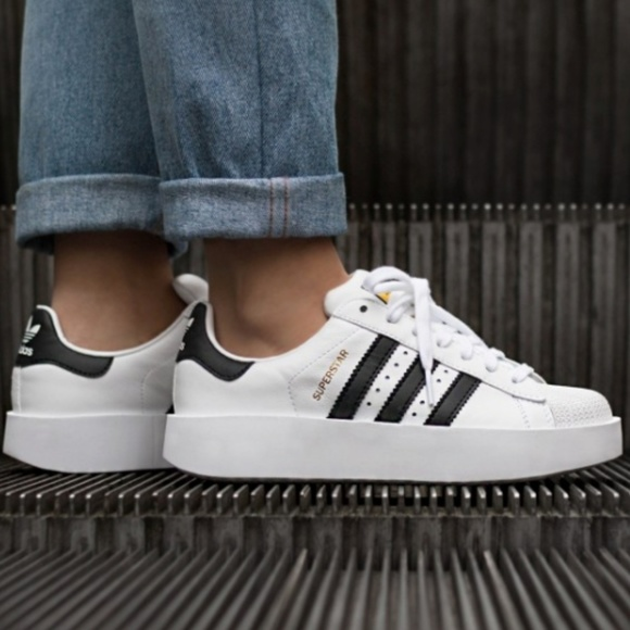 online store fe238 c61d3 Adidas Superstar Bold Platform Lace Up Sneakers