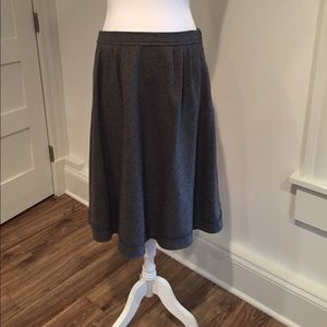 Banana Republic Flannel Wool Skirt with Pockets