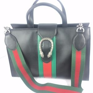 Gucci Dionysus Web Leather Bag with Strap, #444167