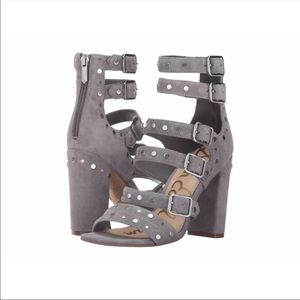 Sam Edelman Grey Suede Studded Heels