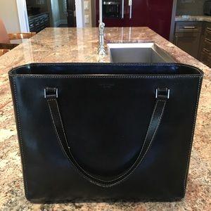 Kate Spade glazed black leather handbag