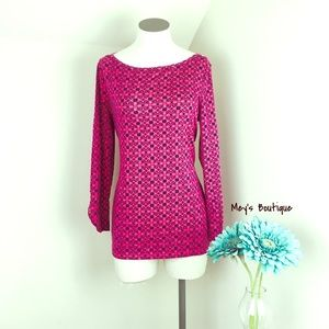 ⭐️Jones New York Elegant Pink Mid Sleeve Top⭐️
