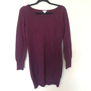 Xhilaration purple sweater dress, size small