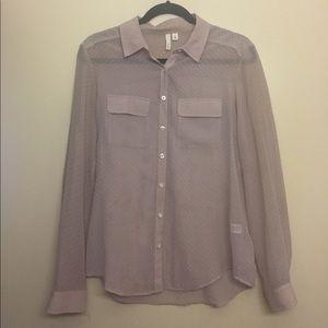 Chiffon polka dot blouse