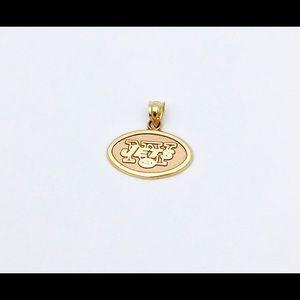 Jewelry - 14k Yellow Gold NY Jets Football Team Pendant