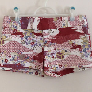 Lux Red Asian Style Shorts Size 4