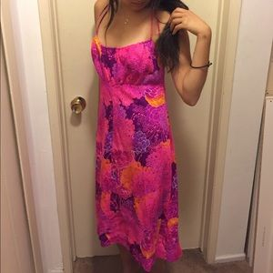 Vintage Hawaiian pink dress