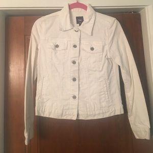 Gap women's white jean jacket SMALL EUC