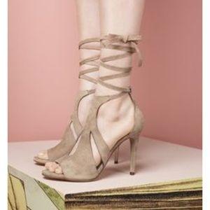 NWT Steve Madden tan suede sandal high heel