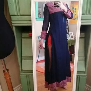 VTG Maxi Slitted Gorgeous Dress! Size S/M
