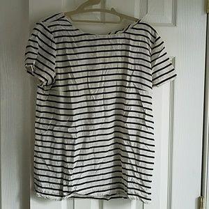Jcrew Silk Stripped Tshirt
