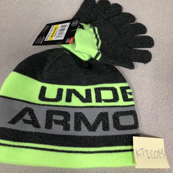 Under Armour Little Boys Knit Beanie and Glove Set 071fa812243