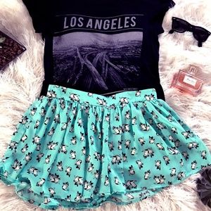 Urban Outfitters boston terrier print skirt-shorts