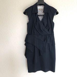 Antropologie Leifsdottir Dark Navy Dress Size 2