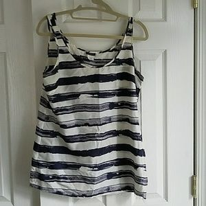 Jcrew Silk Painted Stripes Tank