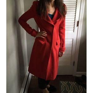 BRAND NEW BCBG Red Wool Coat