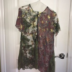 Zara Sheer tunic size M