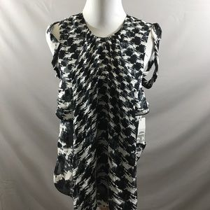 2B RYCH houndstooth silk top size 2 NEW