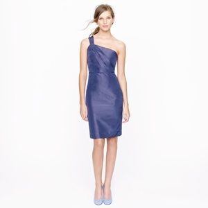 J Crew • Lucienne One Shoulder Silk Taffeta Dress