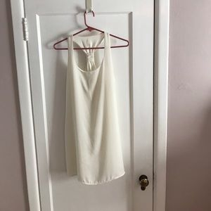 Off white T back shift dress