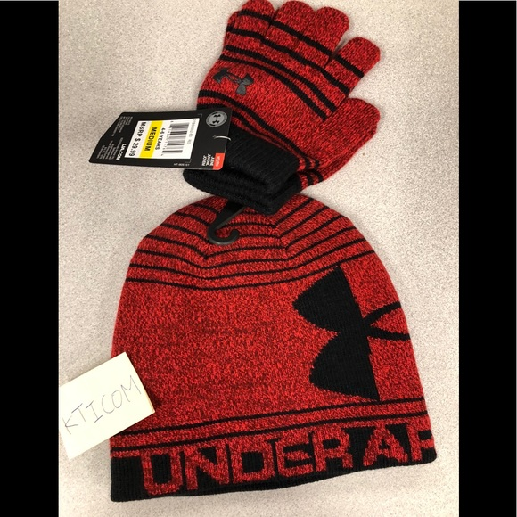 7747c6a8fc8 Under Armour Little Boys Knit Beanie and Glove Set.  M 59ee5b529c6fcfb6110eca3c. Other Accessories ...
