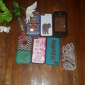 Bundle of 6  iPhone 5c phone cases, 1 life proof