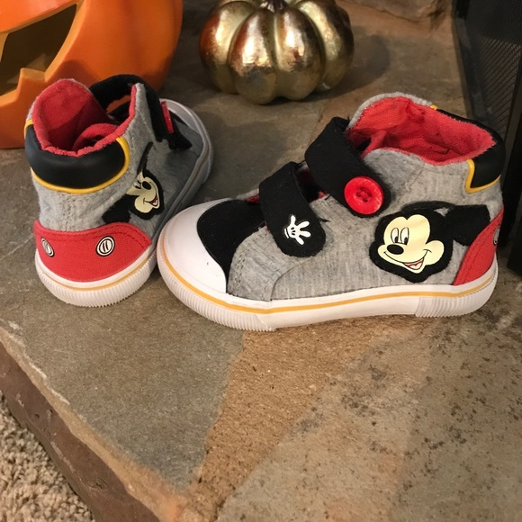 Disney Mickey Mouse Brown Hightop Sneakers