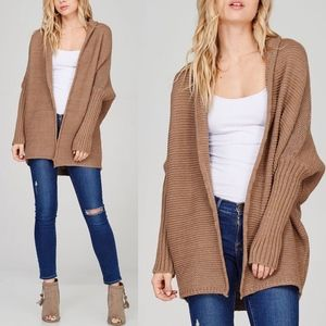 LILLY Chunky Knit Cardigan - MOCHA