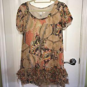 Diane Von Furstenberg size 8 ruffle dress