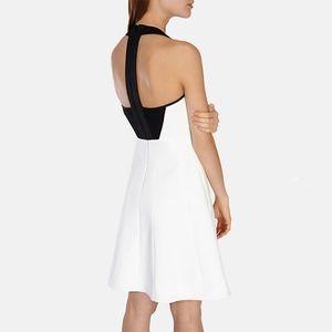 karen millen • white cutaway shoulder dress • 4/6