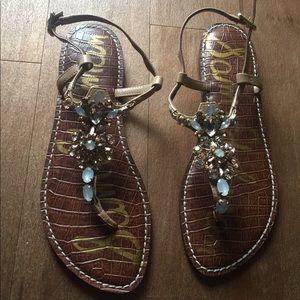 Sam Edelman Bejewled Sandals Sized 9.5