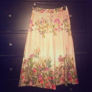 ASOS floral crop wide leg trousers