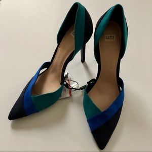Zara color block pump NWT