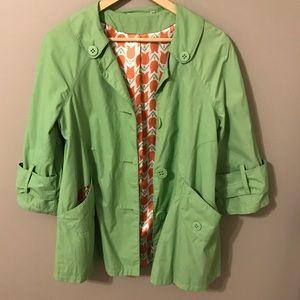 Anthropologie Tulle retro green jacket