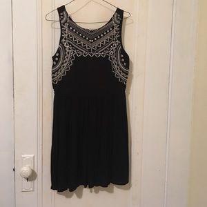Black dress with embroidered design size small