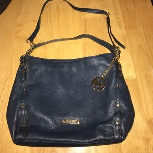 MINT Condition Navy Blue Leather Michael Kors Bag