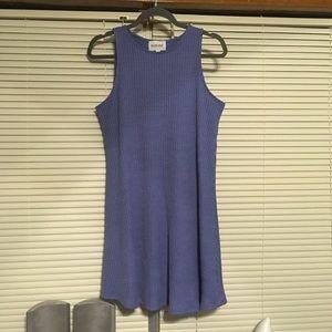 Blue baby doll dress.