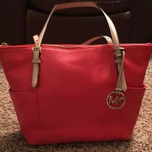 Orange Michael Kors Tote