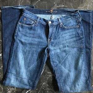 7 for all man kind bootcut jeans. Size 28