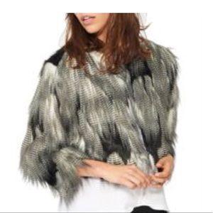 n: PHILANTHROPY Georgie faux fur jacket NWT - M