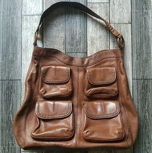 BANANA REPUBLIC brown leather hobo