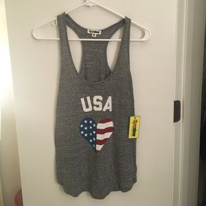 Tipsy Elves USA flag heart tank top