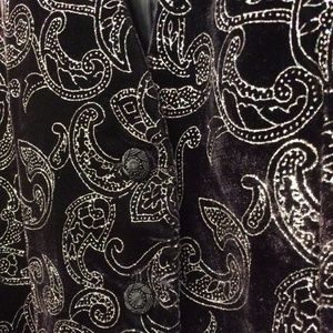 VELVET Glitter Original Deep Purple Vest Paisley