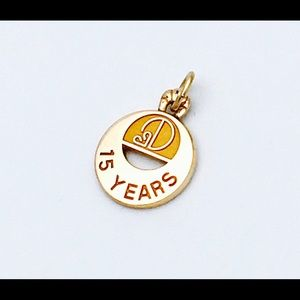 Jewelry - 10k Yellow Gold Sweet Fifteen Charm Pendant