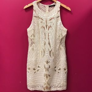 Embroidered Ivory Dress with Sequins